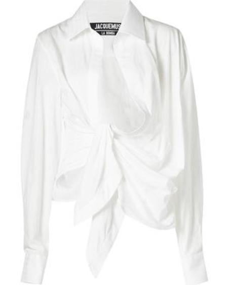 Jacquemus  Wrap-style Shirt - Off White