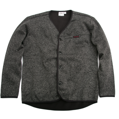 Unisex Gramicci Fleece Cardigan - Charcoal/Black