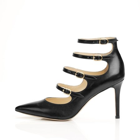 Marion Parke Mitchell Multi Buckle Pump - Black