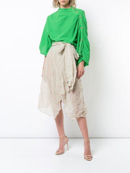 Veronique Leroy Asymmetric Skirt - Beige