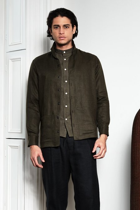 Blluemade Jacket Shirt - Moss Green