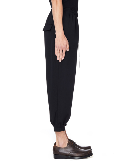 The Viridi-Anne Cropped Wool Trousers - Black
