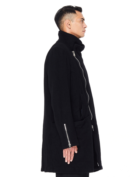 The Viridi-Anne Wool Coat - Black