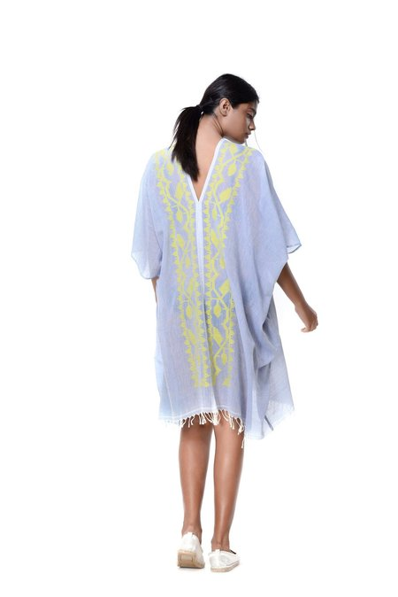 Aish Life Roxy Beera Cover Up - Sky Blue/Yellow