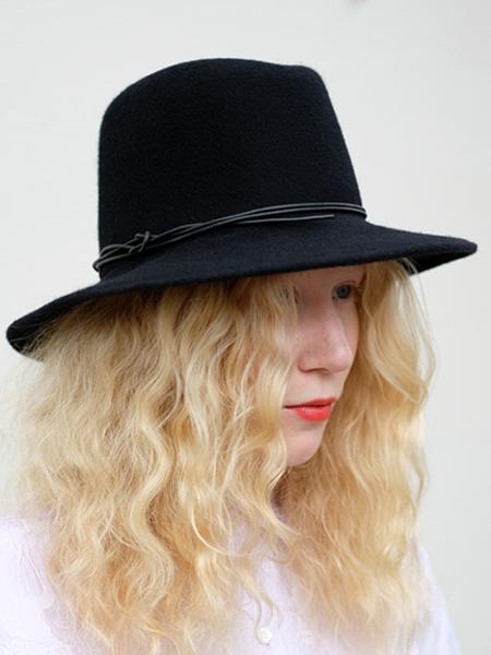 Brookes Boswell Wool Felt Jackson Hat - Black