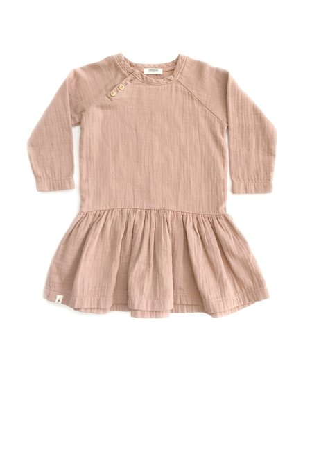 Kids Chaboukie Button Dress - Mauve
