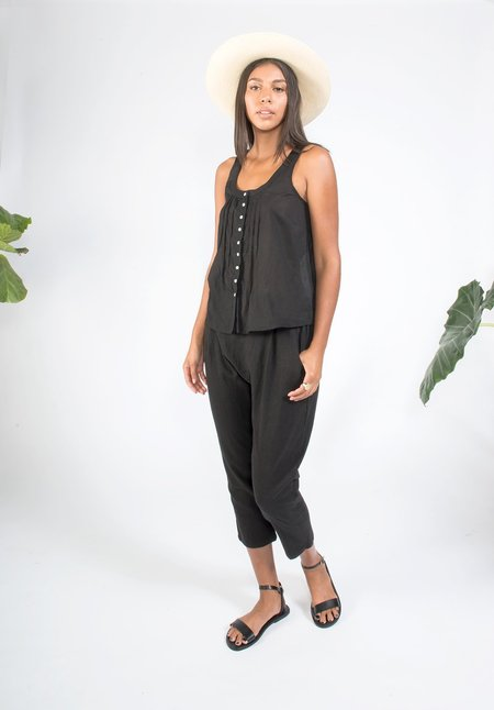 Coast Pintuck Tank - Black