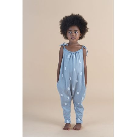 Kids Go Gently Nation Jersey Jumpsuit - Silver Paint Brushes