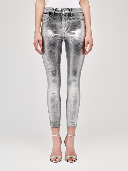 L'Agence Margot High Rise Skinny - Silver Foil