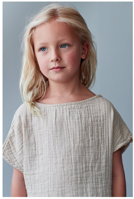 Kids Lennon + Wolfe Zoey Dress - Sand