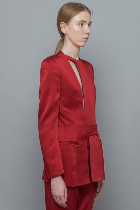 Haider Ackermann Open Back Jacket - Red