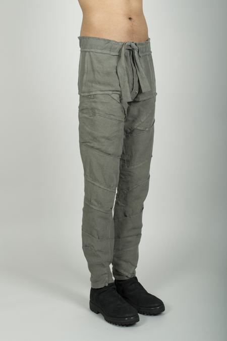Julian Rehbock Many Pieces Linen Pants with Pockets - Green