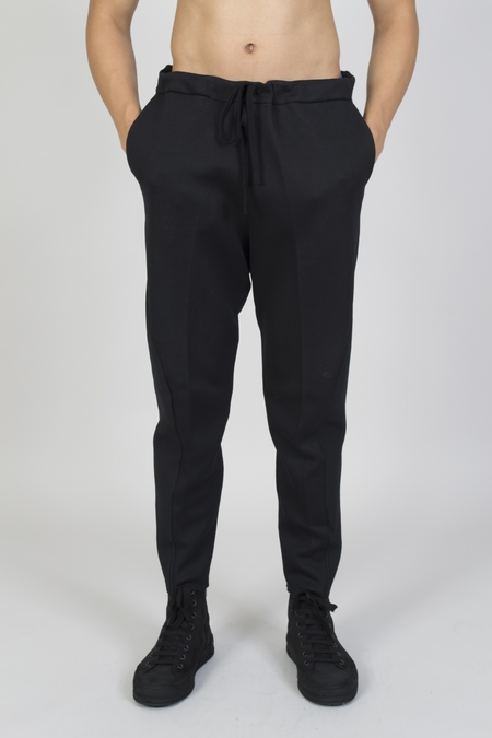 Forme D'Expression Cotton Nylon Curved Leg Pull On Pants - Black