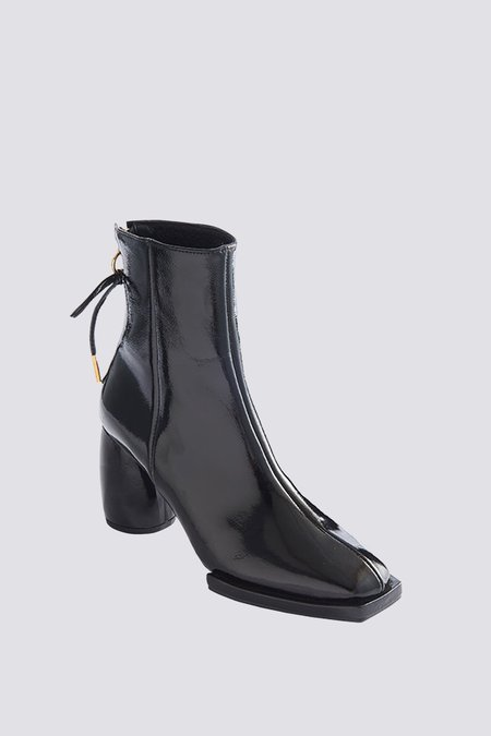 Reike Nen Patent Leather Square Half Boots