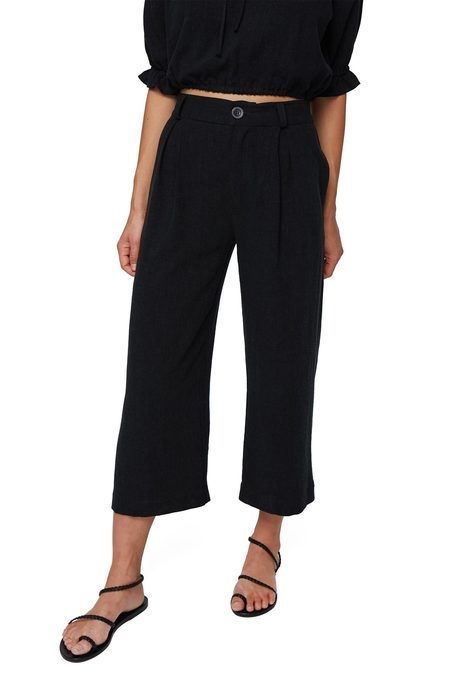 Rachel Pally Linen Desiree Pants - Black