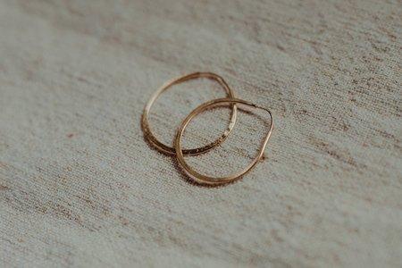 Takara Circle Hoops - 14KT Gold Plated