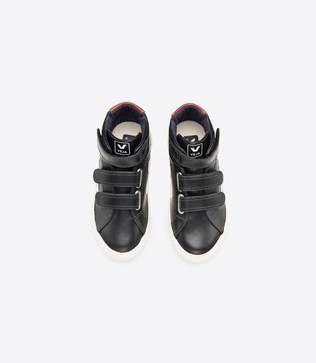 Veja Esplar Mid Small Shoes - Black Pierre Rouille