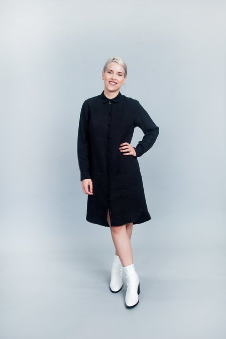 Ode to Sunday Ida Shirt Dress Black