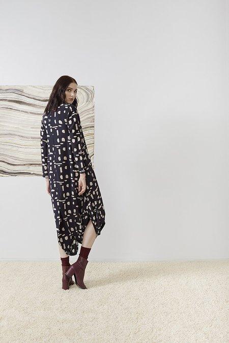 RUJUTA SHETH September Two-Way Slit Dress - Eclipse Batik