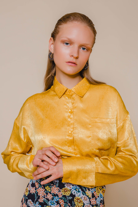 9653364034babc Opusion Flowing Shirt with Button Details Opusion Flowing Shirt with Button  Details