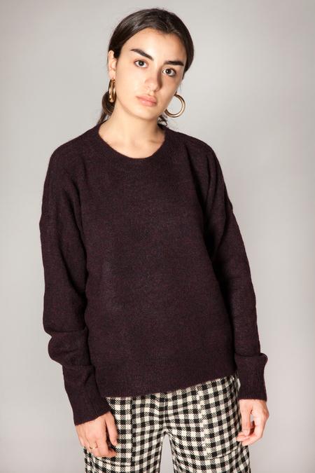 Maison Scotch Basic Crewneck Sweater - Raisin