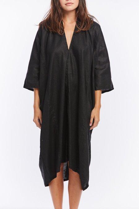 Miranda Bennett Linen O'Keeffe Dress - Black