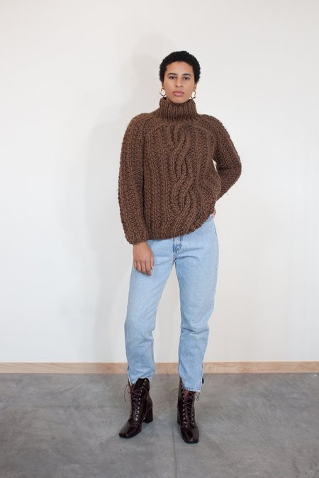 Rujuta Sheth Sara Chunky Turtleneck Sweater - Sand
