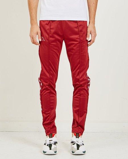 Kappa 222 Banda Astoria Slim Track Pants - Bordeaux Red