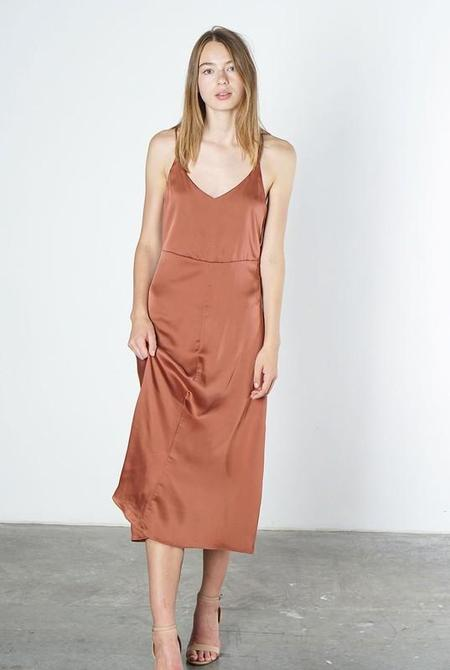 Mod Ref Eloise Satin Slip Dress - Marsala