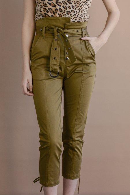 Marissa Webb Gia Twill Pant - Khaki Green