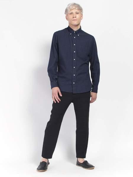 Gitman Vintage Classic Flannel Shirt - Navy