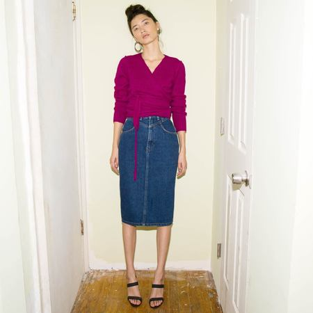 Vintage Kindred Black Bon Jour Denim Skirt