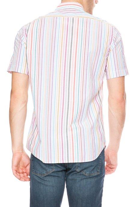 Hartford Sander MC Short Sleeve Button Down - Rainbow/White