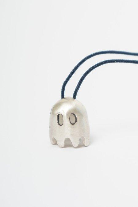 BORD DE L'EAU J.ENOX GHOST NECKLACE - silver