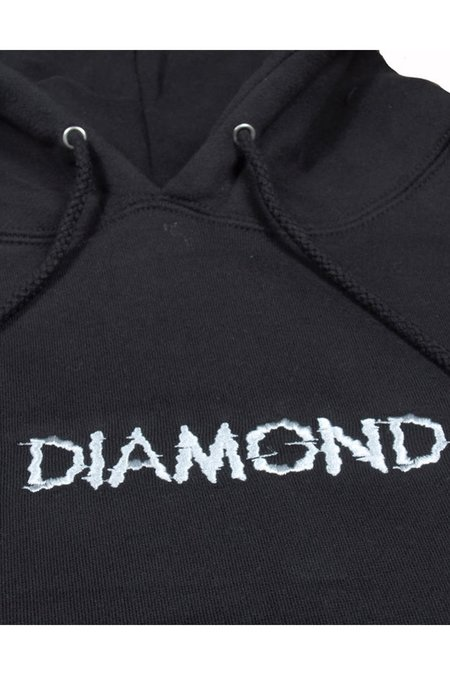 DIAMOND SHIFT HOODIE - BLACK