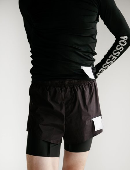 """Satisfy Short Distance 8"""" Silk Shorts - Dark Plum"""