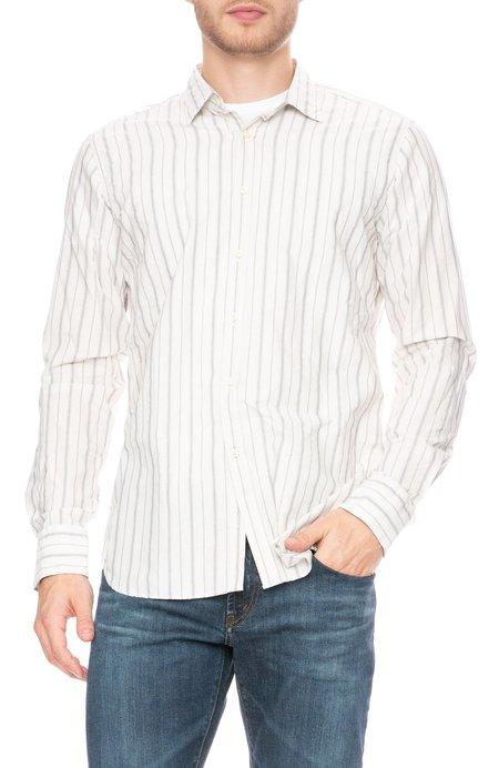 Bevilacqua Button Down Shirt - White Stripe