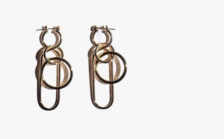 A Détacher Gold Fern Earrings - Gold