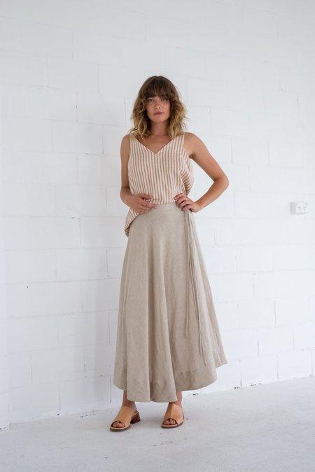 Lois Hazel Tie Circle Skirt - Beige