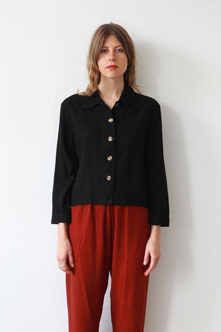 Me & Arrow Crop Shirt - Black