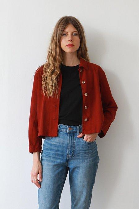 Me & Arrow Crop Shirt - Garnet