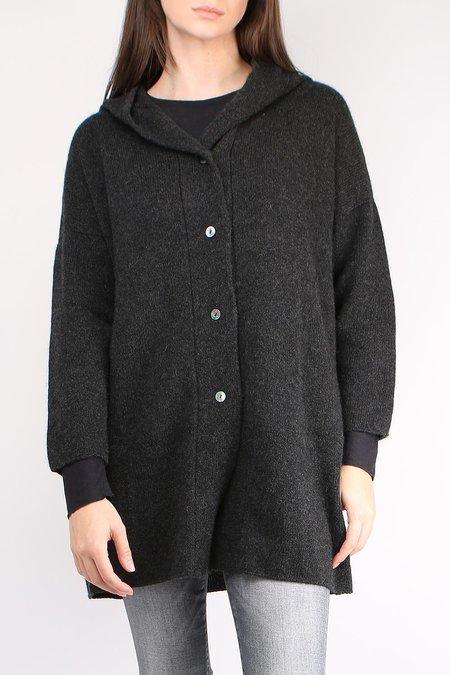 Evam Eva Cashmere Hooded Robe - Charcoal