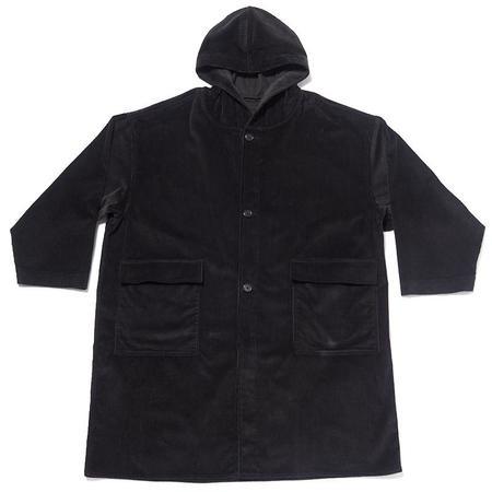 S.K. Manor Hill Corduroy Canopy Coat - Black