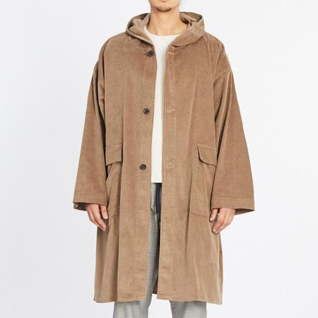 S.K. Manor Hill Corduroy Canopy Coat - Taupe