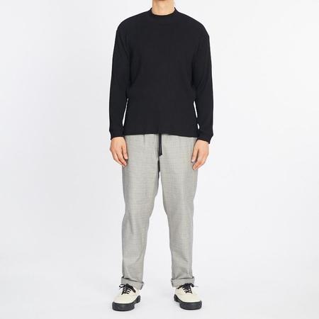 S.K. Manor Hill Long Sleeve Ribbed T-Shirt - Black
