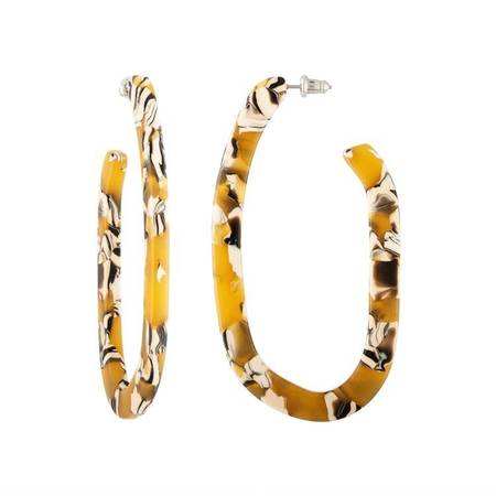 Machete Margot X Hoop Earrings - Calico