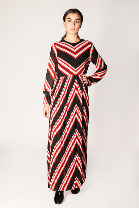 Just Female Coline Maxi Dress - Red Stripe