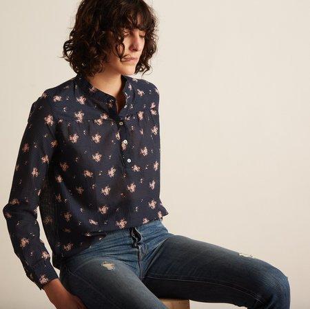 Local Margherita Shirt - Navy Flower