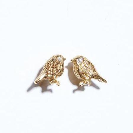 7e74dc1be The Thorny Roses 14K Bird Earrings w/ Diamond - Gold