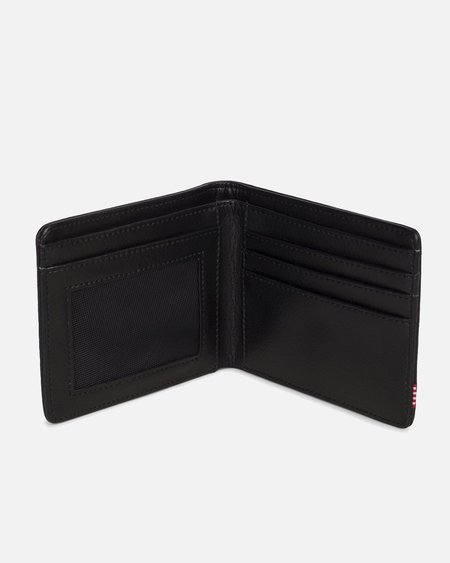 Herschel Supply Co Hank Pebbled Leather Wallet - Black